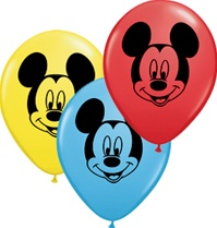 "5"" Mickey Mouse Face Latex Balloons - 100ct"