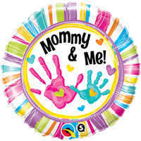 "18"" Mommy & Me Handprints Foil Balloon - Unpkg"