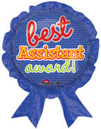 "30"" x 25"" Best Assistant Award Ribbon SuperShape Foil Balloon"