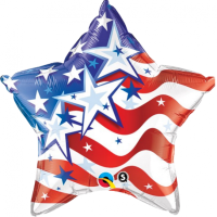 "20"" Stars & Stripes Forever Foil Balloon - Unpkg"