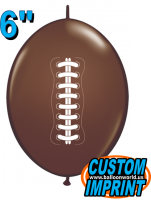 "6"" Football QuickLink Latex Balloons - 50ct"