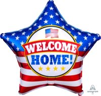 "18"" Welcome Home Patriotic Star Foil Balloon - Pkg"
