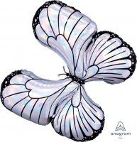 "30"" x 26"" Iridescent Butterfly Holographic Shape Foil"