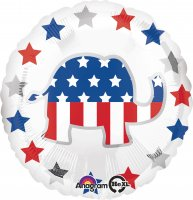 "18"" Election Elephant Foil Balloon - Unpkg"