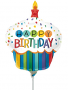 Rainbow Cupcake Birthday Mini Shape Air-Fill Foil Balloon