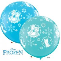 3ft Anna, Elsa, & Olaf-A-Round Latex Balloons - 2ct