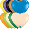 "6"" Hearts Opaque Assortment Latex Balloons - 100ct"