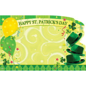 Happy St. Patrick's Day Enclosure Card - 50ct