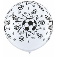 3ft Soccer Balls-A-Round Latex Balloons - 2ct