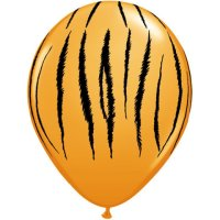 "11"" Tiger Stripes Latex Balloons - 50ct"