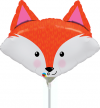 "14"" Fabulous Fox Mini Shape Air-Fill Foil Balloon"