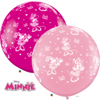 3ft Disney Minnie Mouse-A-Round Latex Balloons - 2ct