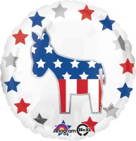 "18"" Election Donkey Foil Balloon - Unpkg"