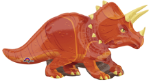 "42"" x 24"" Triceratops SuperShape Foil Balloon"