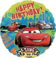 "28"" Cars Group Birthday Sing A Tune Foil Balloon"