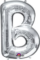 "34"" Silver Letter B SuperShape Foil Balloon"
