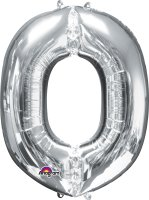 "34"" Silver Letter O SuperShape Foil Balloon"