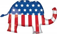 "40"" x 25"" Election Elephant SuperShape Foil Balloon - Pkg"