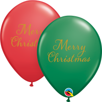 "11"" Simply Merry Christmas Assorted Latex Balloons - 50ct"