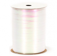 "Uncrimped Iridescent White Curling Ribbon - 3/16"" x 100yds"