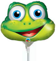 "14"" Funny Frog Mini Shape Air-Fill Foil Balloon"