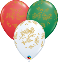 "11"" Contemporary Evergreen Latex Balloons - 50ct"