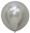 "24"" Reflex Silver Latex Balloons - 10ct"