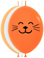 "6"" Whiskers Link-O-Loon Latex Balloons - 100ct"