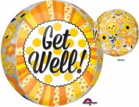"15"" Get Well Happiness Orbz Balloon"