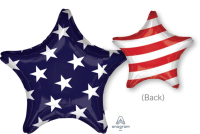 "18"" Stars & Stripes 2-Sided Foil Balloon - Unpkg"