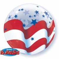 "22"" Patriotic Stars & Stripes Bubble Balloon"